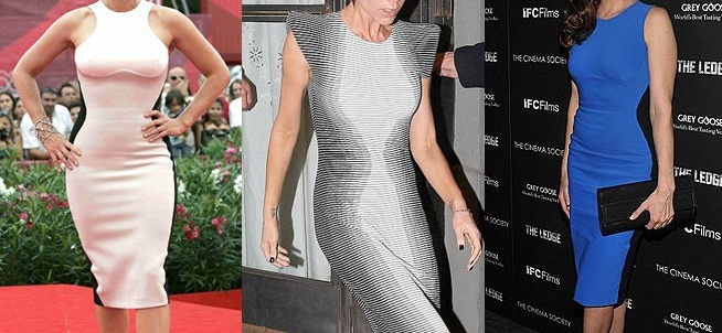 Платье делающее фигуру стройнее